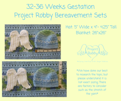 32-36 Weeks GestationProject Robby Bereavement Sets (3)