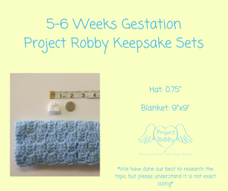 5-6 Weeks GestationProject Robby Keepsake Sets (2)
